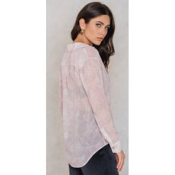 Koszule wiązane damskie: FWSS Koszula Animal Nitrate – Pink,Nude