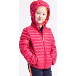 Kurtki dziewczęce przeciwdeszczowe: Kurtka puchowa dla małych dziewczynek JKUD101z – róż malinowy ciemny
