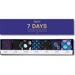 Happy Socks - Skarpety 7 Days (7-pack). Niebieskie skarpetki męskie Happy Socks, z bawełny. W wyprzedaży za 179,90 zł.