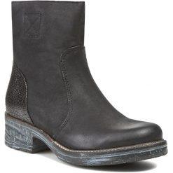Botki GINO ROSSI - Nuvola DBG037-F41-VHTH-9999-F Czarny 99. Czarne buty zimowe damskie marki Gino Rossi, z polaru, na obcasie. W wyprzedaży za 259,00 zł.