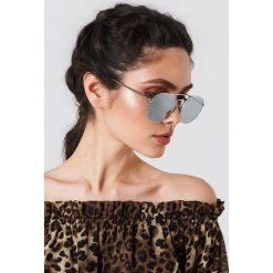 Le Specs Okulary przeciwsłoneczne Revolution - Silver. Szare okulary przeciwsłoneczne damskie aviatory Le Specs, okrągłe. Za 242,95 zł.