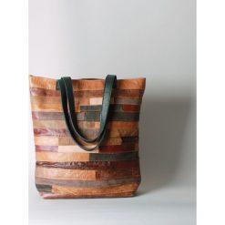 Torebki klasyczne damskie: Brązowa torebka ze skóry naturalnej