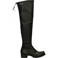 Kozaki - 310-155R E NE. Czarne buty zimowe damskie Venezia, ze skóry ekologicznej. Za 149,00 zł.