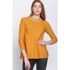 Żółty Sweter Shake Up. Żółte golfy damskie marki Mohito, l, z dzianiny. Za 89,99 zł.