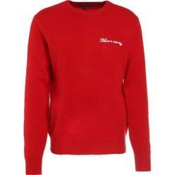 Rag & bone Sweter red. Czerwone swetry klasyczne męskie rag & bone, m, z materiału. W wyprzedaży za 1042,30 zł.