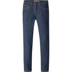 """Dżinsy SKINNY bonprix ciemnoniebieski """"stone"""". Niebieskie jeansy dziewczęce bonprix, z jeansu. Za 37,99 zł."""