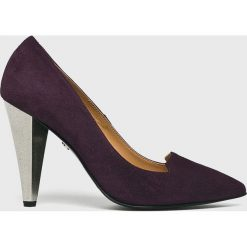 Solo Femme - Czółenka. Szare buty ślubne damskie marki Solo Femme, z materiału, na szpilce. W wyprzedaży za 299,90 zł.