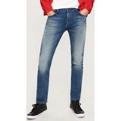 Rurki męskie: Jeansy slim fit knit denim - Niebieski