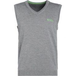 BOSS ATHLEISURE VILY PRO Sweter light/pastel grey. Niebieskie swetry klasyczne męskie marki BOSS Athleisure, m. W wyprzedaży za 376,35 zł.