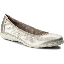 Baleriny CAPRICE - 9-22150-20 Offwht Glitter 112. Szare baleriny damskie marki Caprice, z nubiku. W wyprzedaży za 149,00 zł.