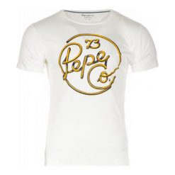 Pepe Jeans T-Shirt Męski Meidinger, L, Biały. Niebieskie t-shirty męskie marki Pepe Jeans. Za 146,00 zł.