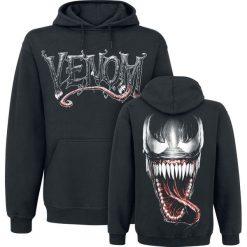 Venom (Marvel) Furious Face Bluza z kapturem czarny. Czarne bejsbolówki męskie Venom (Marvel), l, z motywem z bajki, z materiału, z kapturem. Za 164,90 zł.
