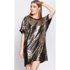 Złota Sukienka Hold You Down. Żółte sukienki mini marki Born2be, uniwersalny. Za 119,99 zł.