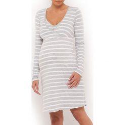 Koszula nocna ciążowa z odpinanymi miseczkami. Szare bielizna ciążowa La Redoute Collections, z bawełny, moda ciążowa. Za 88,16 zł.