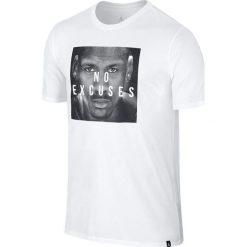 Nike Koszulka męska Jordan Dry No Excuse biała r. M (862193-100). Białe koszulki sportowe męskie Nike, m. Za 143,26 zł.