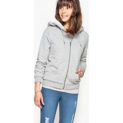 Bluza z barankiem w środku 10-16 lat. Czarne bluzy dziewczęce rozpinane La Redoute Collections, z bawełny, z długim rękawem, długie. Za 126,38 zł.