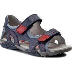 Sandały RENBUT - 31-4336 Jeans. Niebieskie sandały męskie skórzane marki RenBut. W wyprzedaży za 159,00 zł.