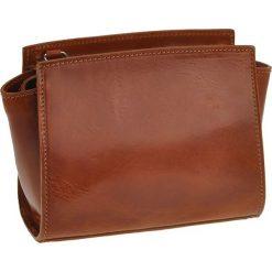 Torebki klasyczne damskie: Skórzana torebka w kolorze jasnobrązowym – 18 x 14 x 6 cm