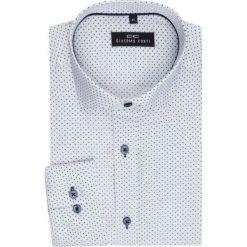 Koszula SIMONE KDBR000126. Białe koszule męskie na spinki Giacomo Conti, m, z materiału, z włoskim kołnierzykiem. Za 169,00 zł.
