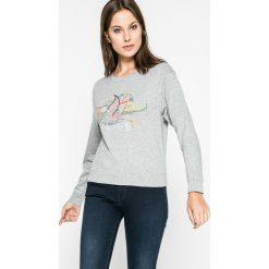 Jacqueline de Yong - Bluza. Szare bluzy z nadrukiem damskie marki Jacqueline de Yong, m, z bawełny, bez kaptura. W wyprzedaży za 49,90 zł.