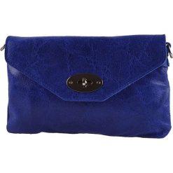 Puzderka: Skórzana kopertówka w kolorze niebieskim – 23 x 15 x 2 cm