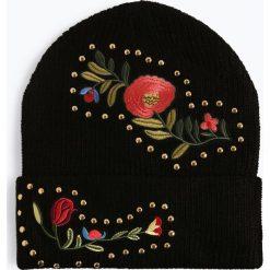 Marie Lund - Czapka damska, czarny. Czarne czapki damskie Marie Lund, z aplikacjami. Za 79,95 zł.