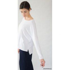 Koszulka 'LONG HAIKU'. Niebieskie bluzki z odkrytymi ramionami marki Pakamera, z bawełny. Za 120,00 zł.
