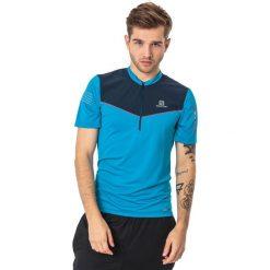 Salomon Koszulka męska Fast Wing HZ SS Tee niebiesko-granatowa r. M (397001). Szare t-shirty męskie marki Salomon, z gore-texu, na sznurówki, outdoorowe, gore-tex. Za 160,59 zł.