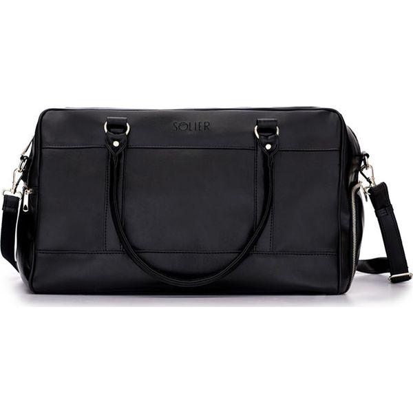 91971ba9663f2 Męska torba sportowy styl Solier FRASER czarny - Czarne torby męskie  skórzane Solier, bez wzorów, ze skóry ekologicznej, sportowe. Za 249,00 zł.