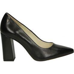 Czółenka - 19-25O PEL NE. Czarne buty ślubne damskie Venezia, ze skóry. Za 299,00 zł.