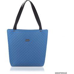 TOREBKA SOMMERKA 2071. Niebieskie shopper bag damskie Pakamera, na ramię, pikowane. Za 110,00 zł.