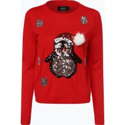 ONLY - Sweter damski – OnlX-Mas Penguin, lila. Czerwone swetry klasyczne damskie ONLY, na zimę, m. Za 119,95 zł.