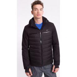 Kurtka narciarska męska KUMN007z - czarny - 4F. Czarne kurtki męskie pikowane 4f, na jesień, l, z materiału, z kapturem. Za 249,99 zł.