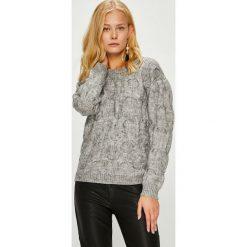 Morgan - Sweter. Szare swetry klasyczne damskie marki Morgan, l, z dzianiny, z okrągłym kołnierzem. W wyprzedaży za 269,90 zł.