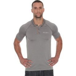 Koszulki polo: Brubeck Koszulka męska polo Prestige z krótkim rękawem szara r. M (SS10920)