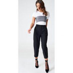 Spodnie z wysokim stanem: Vanessa Moe x NA-KD Spódnico-spodnie The Culotte – Black