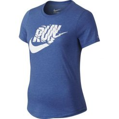 Nike Koszulka Run P Orgametric Swoosh Tee niebieska r. M - 776636 456. Niebieskie topy sportowe damskie Nike, m. Za 149,00 zł.