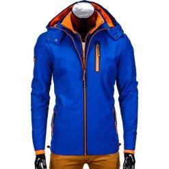 KURTKA MĘSKA PRZEJŚCIOWA SPORTOWA C320 - NIEBIESKA. Niebieskie kurtki sportowe męskie Ombre Clothing, m, z nylonu. Za 99,00 zł.