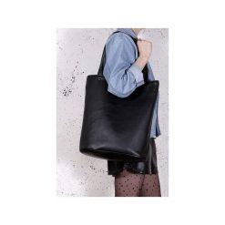 Shopper bag XL czarna klasyczna torba na zamek Vegan. Czarne shopper bag damskie Hairoo, w paski. Za 155,00 zł.