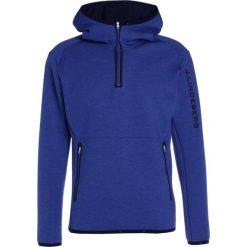 Bejsbolówki męskie: J.LINDEBERG LOGO TECH  Bluza z kapturem strong blue