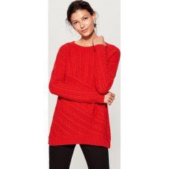 Sweter z wełną - Czerwony. Czerwone swetry klasyczne damskie marki Mohito, z bawełny. Za 119,99 zł.