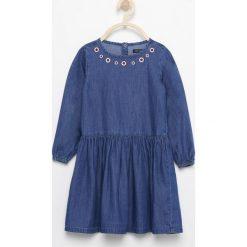 Jeansowa sukienka - Granatowy. Różowe sukienki dziewczęce marki Pakamera, z długim rękawem, długie. Za 159,99 zł.