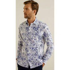 Mango Man - Koszula Mireia. Szare koszule męskie na spinki marki S.Oliver, l, z bawełny, z włoskim kołnierzykiem, z długim rękawem. Za 199,90 zł.