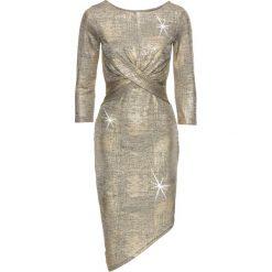 Sukienki: Sukienka z metalicznym połyskiem bonprix złocisty