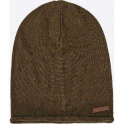 Barts - Czapka James Beanie army. Brązowe czapki zimowe męskie marki Barts, na zimę, z dzianiny. W wyprzedaży za 49,90 zł.
