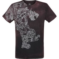 T-shirty męskie: Outer Vision Dragon Tattoo T-Shirt bordowy