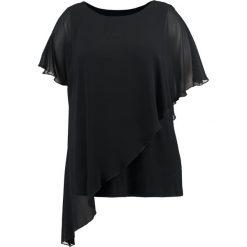 Bluzki asymetryczne: Evans OVERLAY ASYMMETRIC  Bluzka black