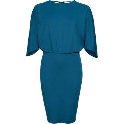 Sukienka z krepy z dżerseju bonprix niebieskozielony. Niebieskie sukienki na komunię bonprix, z dżerseju. Za 99,99 zł.