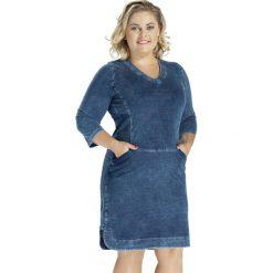3238dcc64f Jeansowa bawełniana sukienka DENIM OVERSIZE PLUS SIZE. Niebieskie sukienki  damskie Moda Size Plus Iwanek