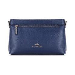 Torebki klasyczne damskie: Skórzana torebka w kolorze granatowym – (S)26 x (W)17 x (G)6 cm